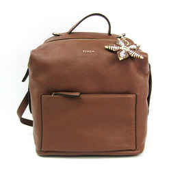 Furla With Daphne Charm Women's Leather Backpack Brown Bf511174