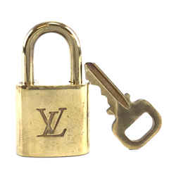 Louis Vuitton Gold Brass Lock and Key Set #337
