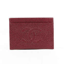 Chanel Wallet Timeless Cardholder Red Caviar Leather CC