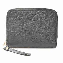 Auth Louis Vuitton Louis Vuitton Amplant Zippy Coin Purse Black Leather