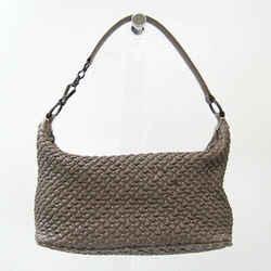 Bottega Veneta Quilting Women's Leather Handbag Dark Gray BF528009