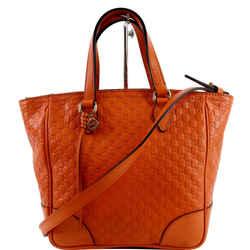 Small Bree GG ssima Leather Crossbody Bag Orange 449241
