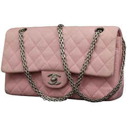 Chanel Pink Quilted Mademoiselle Classic Medium Chain Flap 869914RL