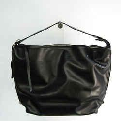 Bally MOONRISE SM Women's Leather Shoulder Bag Black BF535059