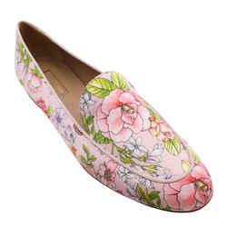 Aquazzura Pink Purist Floral Print Loafers