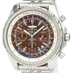Polished BREITLING Bentley Motors Steel Automatic Mens Watch A25362 BF522066