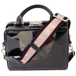 Mcm Berlin Soft Clear Leather Crossbody Box Bag Black