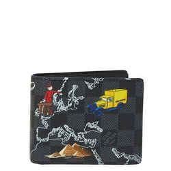 Louis Vuitton Damier Graphite Canvas Map Print Slender Wallet