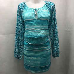 Michael Kors Blue Printed Dress 8