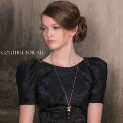 NEW $760 ROBERTO CAVALLI Black & Gold Tone Crystal Fox Pendant NECKLACE