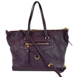LOUIS VUITTON Lumineuse PM Monogram Empreinte Leather Shoulder Bag Plum