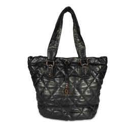 Chanel Black Quilted Lambskin Drawstring Shoulder Bag