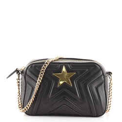 Stella Star Camera Bag Quilted Faux Leather Small