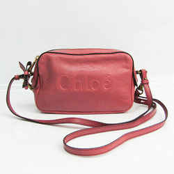 Chloe Shadow 3P0331 Women's Leather Shoulder Bag Rose Pink BF523720