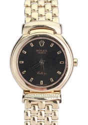 Rolex Cellini 18K Gold Black Jubilee Dial with Box and Papers
