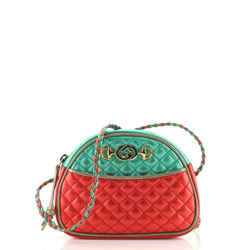 Trapuntata Camera Shoulder Bag Quilted Laminated Leather Small