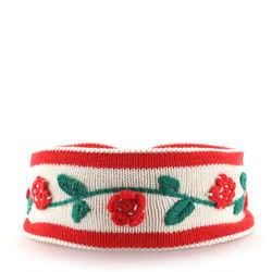 Floral Headband Knit Wool Blend XS