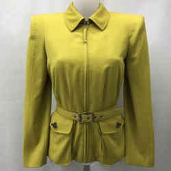 Jean Paul Gaultier Green Belted Jacket 8