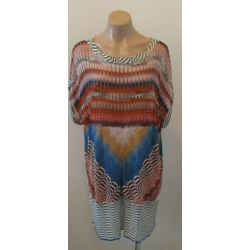 Missoni Mare Multi-color Scoop Neck Sleeveless Cover Up - Size 44