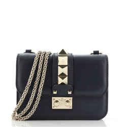 Glam Lock Shoulder Bag Leather Mini