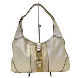 Gucci Web Jackie O Bouvier Medium Leather Hobo Bag - Sale