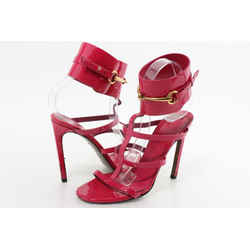 Gucci Patent Leather Vernice Crystal Blossom Sandals