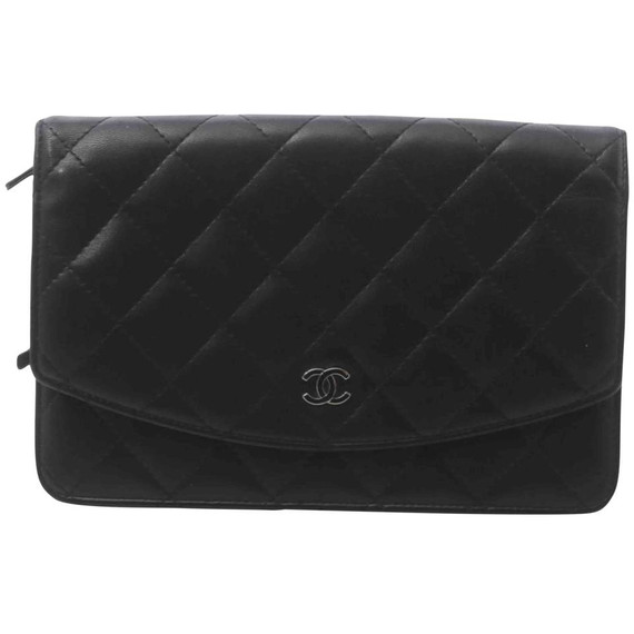 Chanel Black Quilted Lambskin Timeless CC Large Wallet  862157