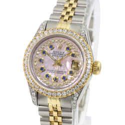 Rolex Pink Mop Datejust 69173 Diamond Dial Lugs Diamond Bezel 26mm Watch