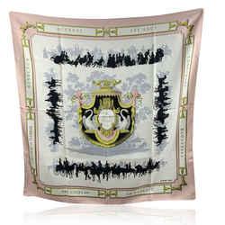 Hermes Paris Vintage Pink Silk Scarf Le Bois De Boulogne 1957 Grygkar