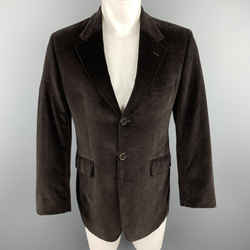 Ps By Paul Smith Size 38 Brown Cotton Velvet Notch Lapel Sport Coat