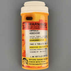 MOSCHINO Yellow & Red Rubber Pill Bottle iPhone Case