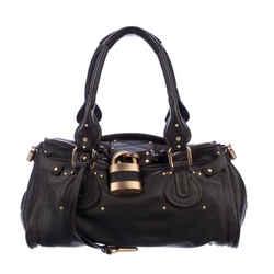 Chloe Dark Brown Leather Paddington Shoulder Bag