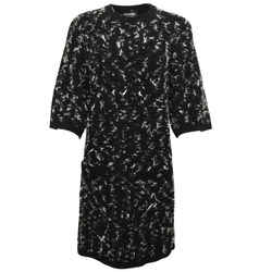 Chanel Black and White Sweater Style Short Casual Dress