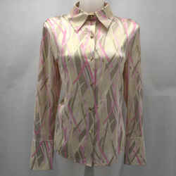 St John Pink Silk Button Down 8