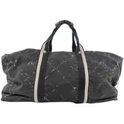 Chanel Large Black New Line Boston Duffle Travel Gym Bag 301ccs217