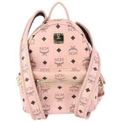 MCM Pink Monogram Visetos Small Stark Side Stud Backpack 914mcm35