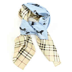 "Burberry London ""hounds"": Beige, ""nova Check"" 100% Silk Scarf 34"" X 34"" (rm)"