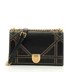 Diorama Flap Bag Studded Leather Medium
