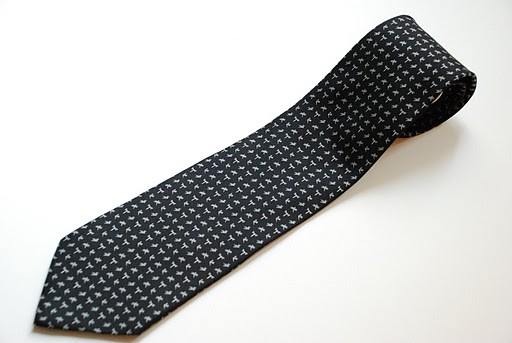 SALVATORE FERRAGAMO Black Silk Tie