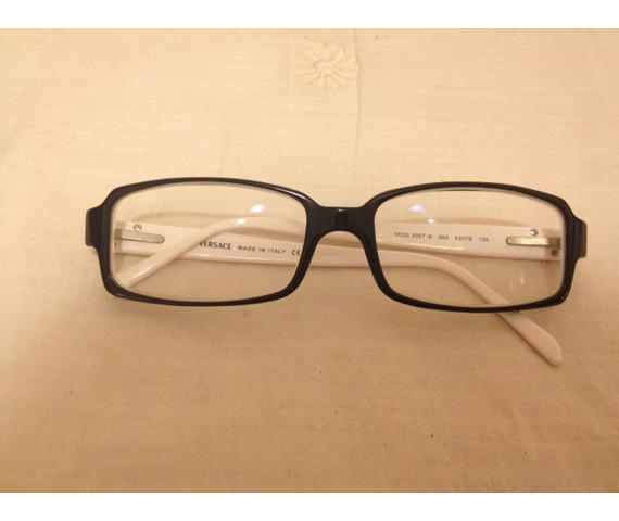 Versace Glassess - White and Black Plastic Frame