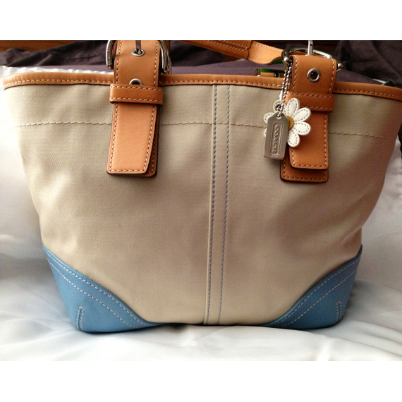 Authentic Coach Canvas/Leather Tote