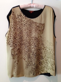 7 For All Mankind Leopard Top