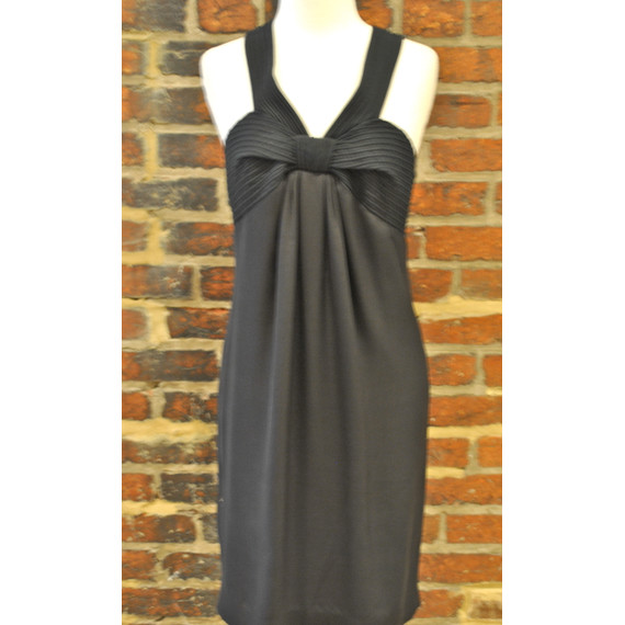 New with Tags! Magaschoni Criss-Cross Black Babydoll Dress Size 4 (Item no. 9965)