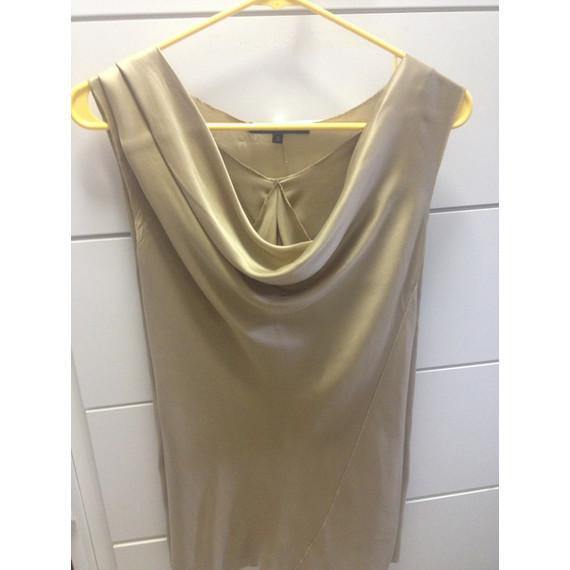 Rachel Roy Silk Gold Top
