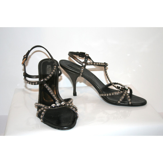 Prada Sandals with Studded Leather Straps