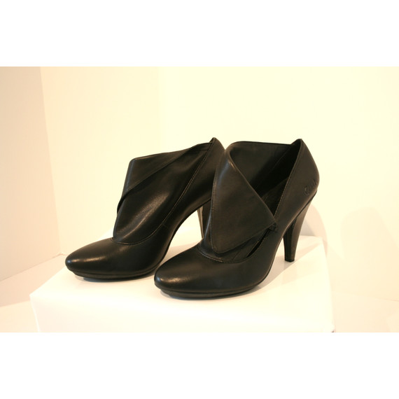 Black Coach Ankle Boots Booties Sz 7