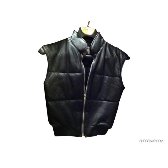Jill Stuart Leather Quilted Vest