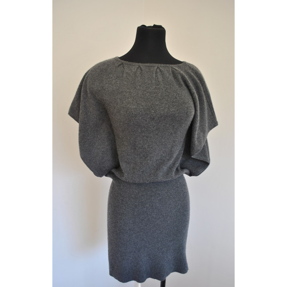Grey Cashmere Sweater Dress by Design History Size Small