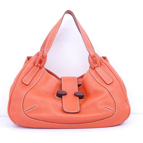 TOD'S Orange Leather Hobo Shoulder bag