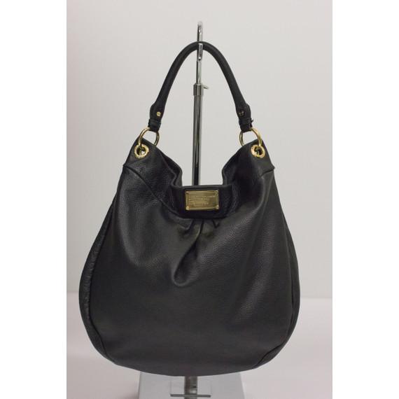 "Marc by Marc Jacobs Black Leather ""Classic Q Hillier"" Handbag"
